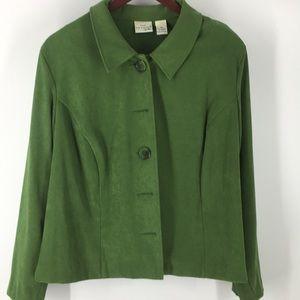 Kim Rogers Ultra Suede Green Jacket ( K2026)